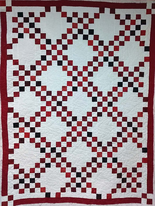quilt of diamonds formed by small square
