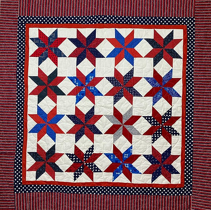 Red white and blue stars quilt
