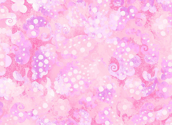 "Day Dreams Pink 108"" wide by half yard"