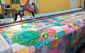 145 inch  quilt on 14 foot frame
