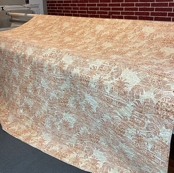 King size pineapple quilt pieced and qui