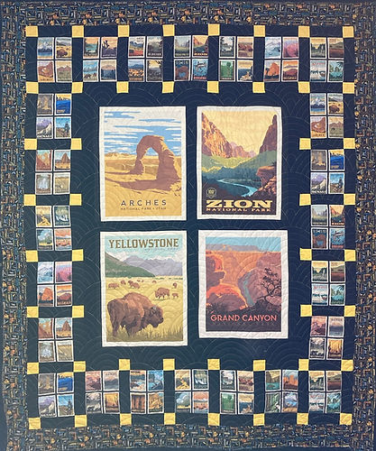 National Parks quilt fabric