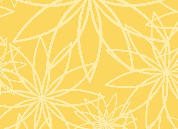 Sunshine Star Flower 108 wide by half yard