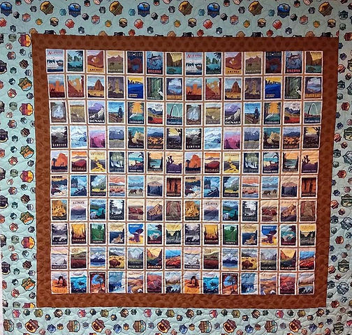 National Parks panel quilt fabric