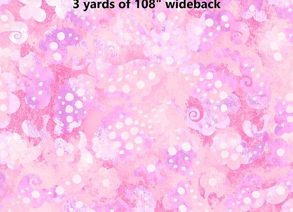 "3 yards Day Dreams Pink 108"""