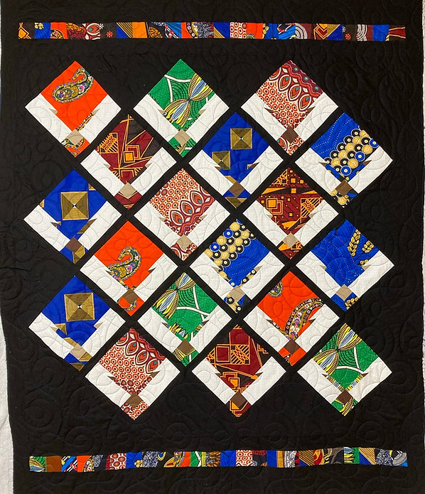 african queen quilt with longarm quiltin