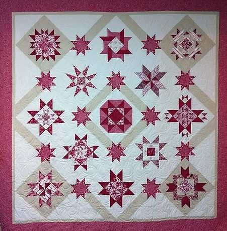 Paisley Loops longarm quilting design on