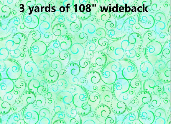 3 Yards of Swirling Splendor Mint