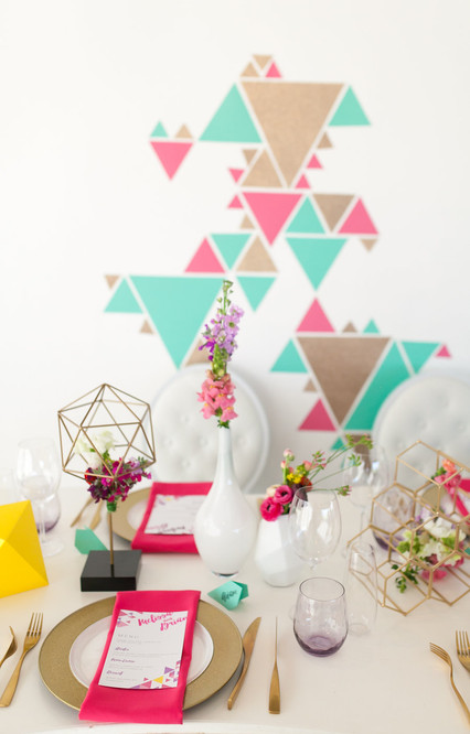 Styled Shoot - Colourful Geometrics