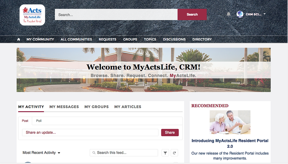 Custom Salesforce Lightning Community Portal for Senior Living
