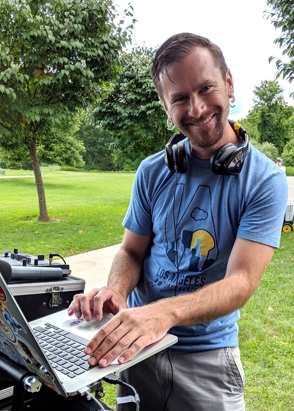 Nate Pepper at the 2019 CRM Science Summer Picnic