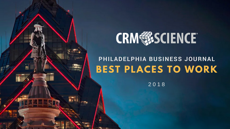 CRM Science Makes Philadelphia Business Journal Best Places to Work 2018