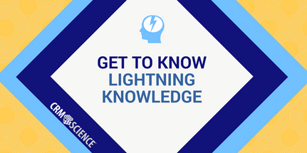 Utilize Salesforce Knowledge in Lightning