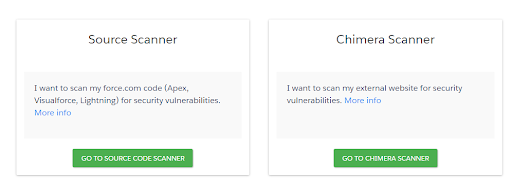 Select the Chimera Scanner Option