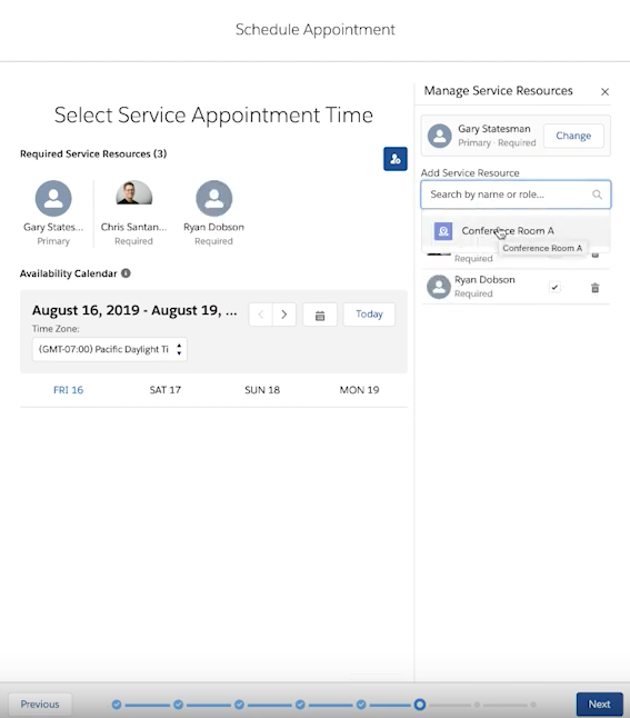 Multi-Resource Scheduling in Financial Services Cloud