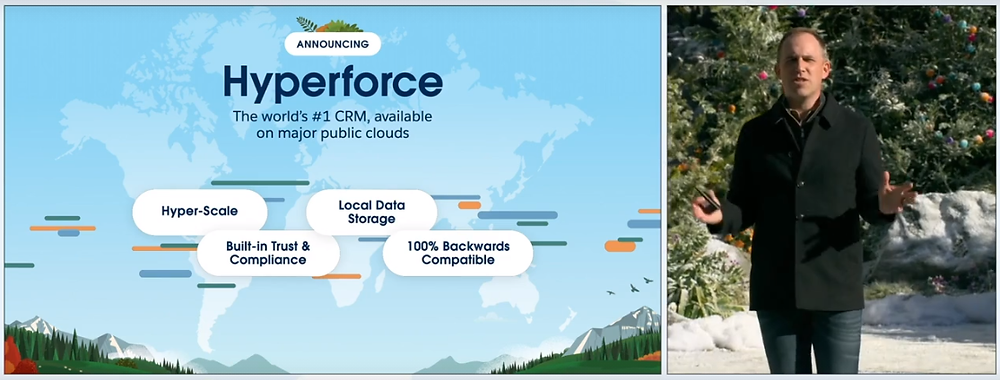 Salesforce Hyperforce Announcement at Dreamforce