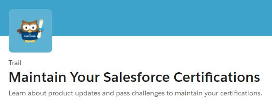 Salesforce Certification Maintenance Exam