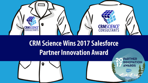 CRM Science Wins 2017 Salesforce Partner Innovation Award for Analytics Cloud