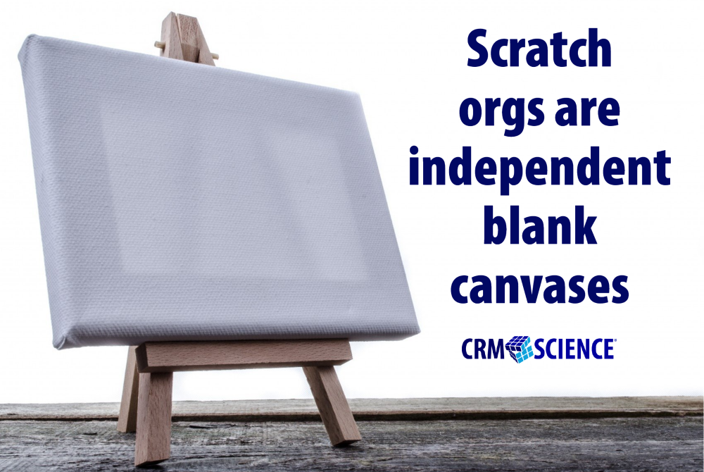 Scratch orgs are independent blank canvases