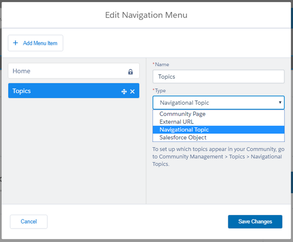 Dynamic Navigation in Lightning Napili Salesforce Communities