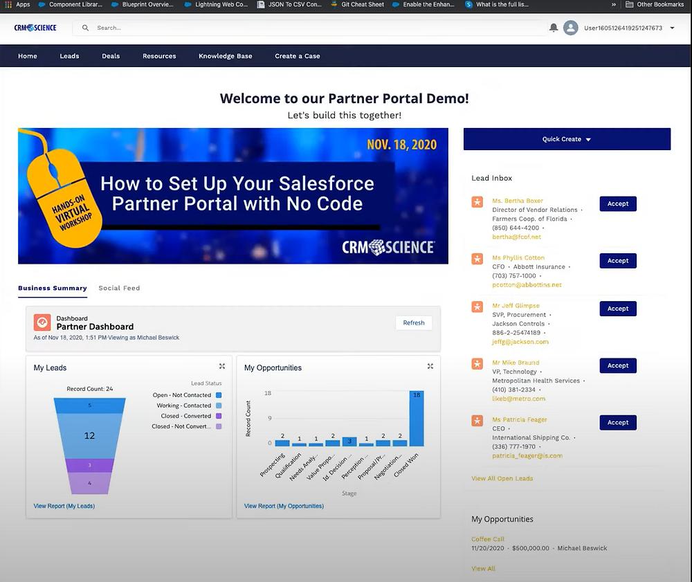 Salesforce Experience Cloud Partner Portal Template Example