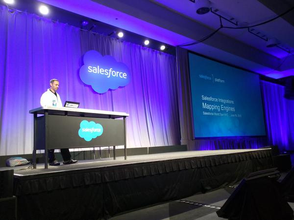 Ami presenting at the SFDC World Tour NYC 2015.