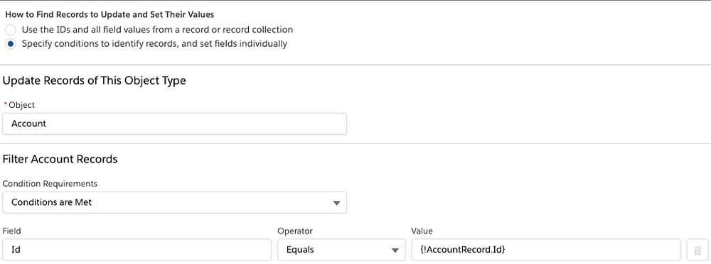 Finding and updating records