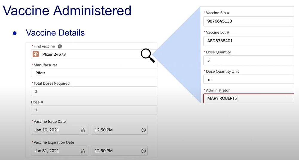 Tracking Vaccine Administration in Salesforce