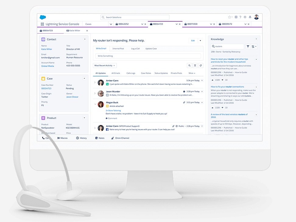 Salesforce Service Cloud Agent Workspace