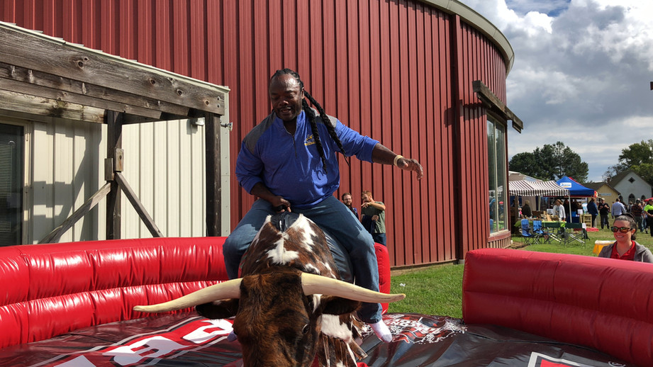 Main riding PBR Mechanical Bull from By the Horns Mechanical Bull Rental Delaware Pennsylvania Maryland