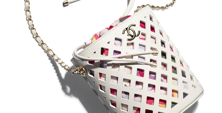 Chanel Drawstring Bag Perforated Calfskin
