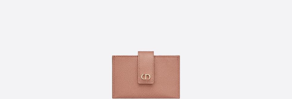 Dior small 30 Montaigne clafskin 5-pocket card holder in blush or black
