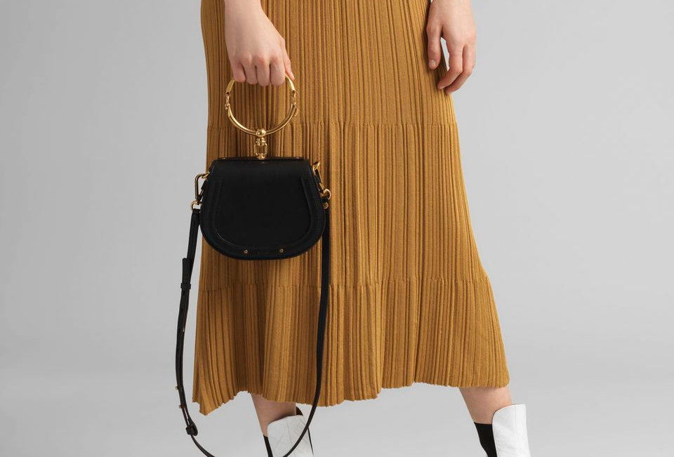 Chloé Nile Small leather bracelet bag