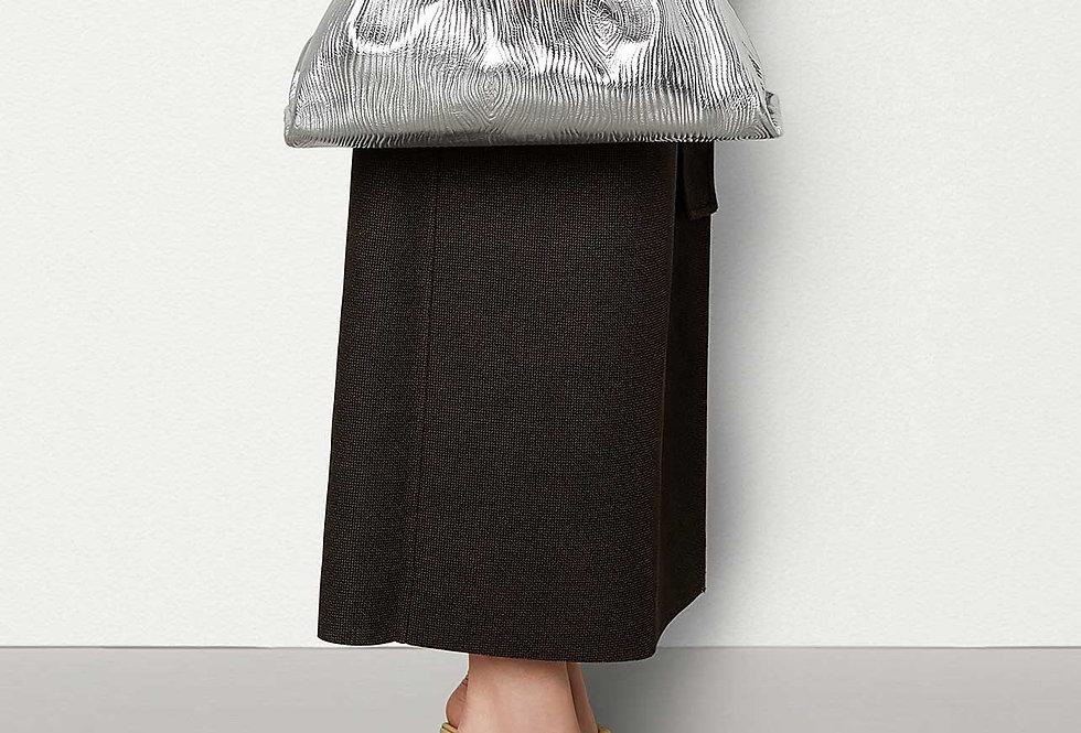 Bottega Veneta Pouch in Bark-Effect Calfskin Leather