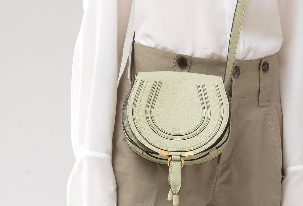 Chloé Mini Marcie Round Saddle mini bag in small grain calfskin