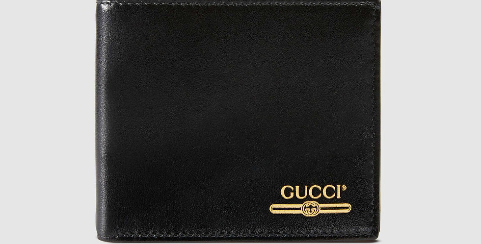 Gucci Leather wallet with Gucci logo