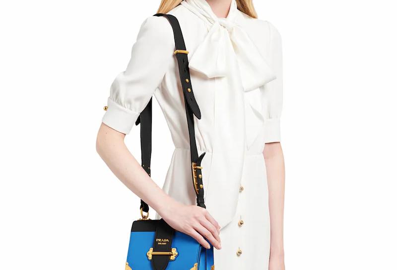 Prada Cahier Leather Bag