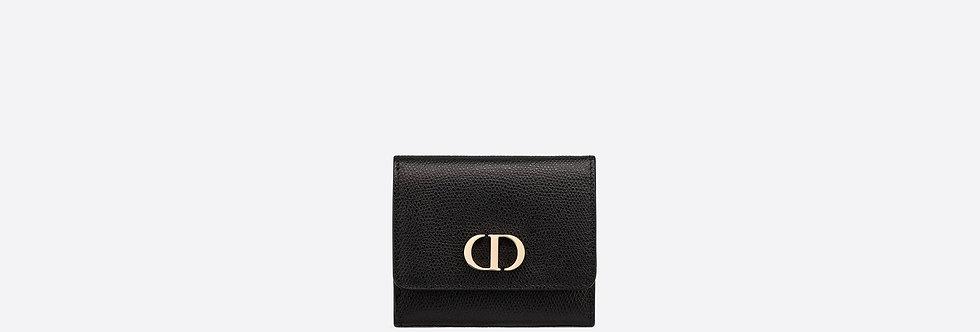 Dior medium 30 Montaigne Lotus black calfskin wallet