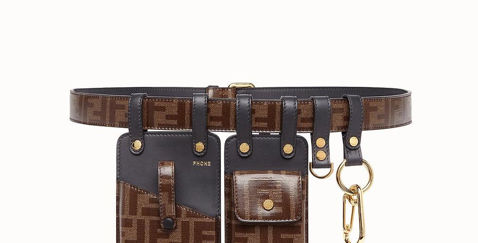 Fendi Prints On leather Waist Belt
