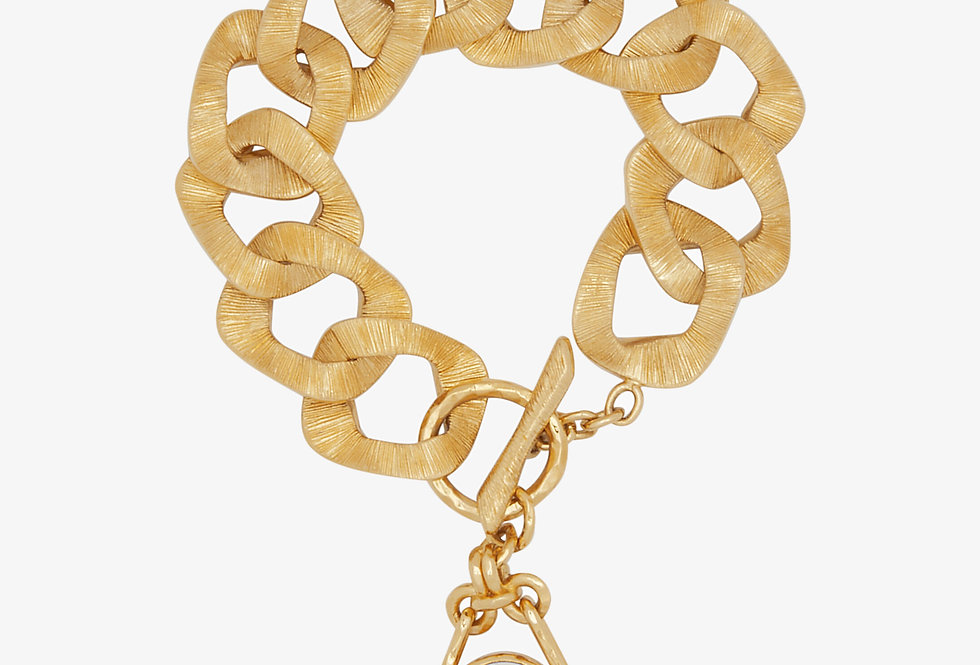 Givenchy Douvble Face Bracelet with twisted charm