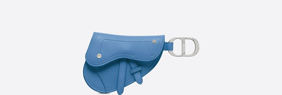 Dior Grained Calfskin Saddle Key Ring