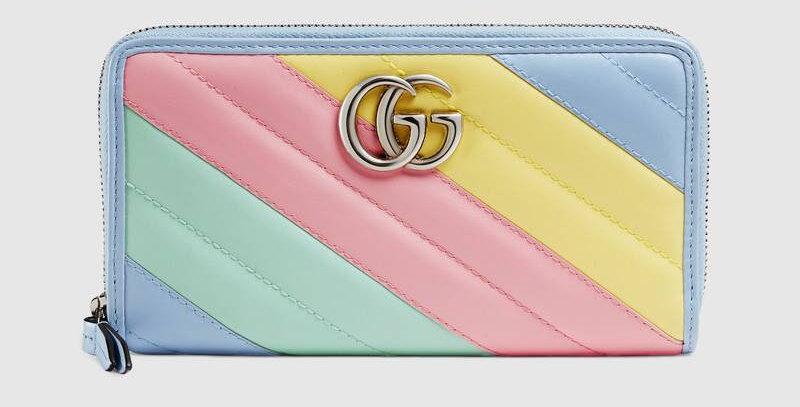 Gucci GG Marmont Matelassé Zip Around Wallet