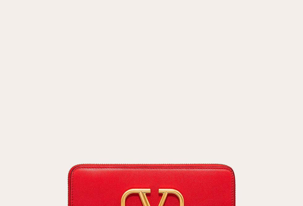 Valentino VLOGO zippered calfskin wallet