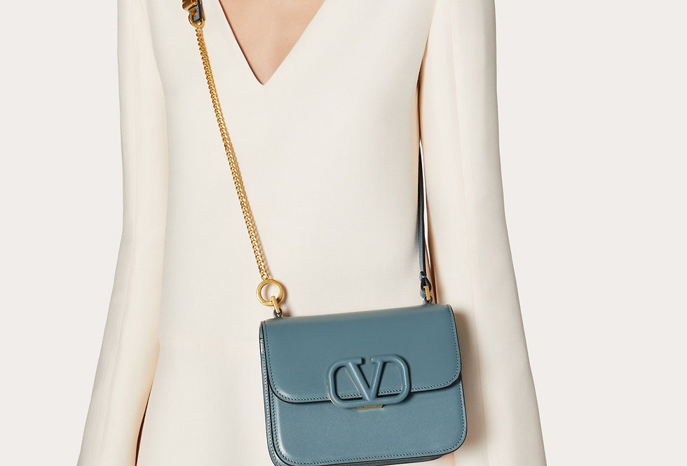 Valentino VSling small Shiny Calfskin shoulder bag