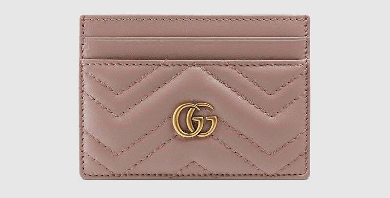 Gucci GG Marmont matalssé card case