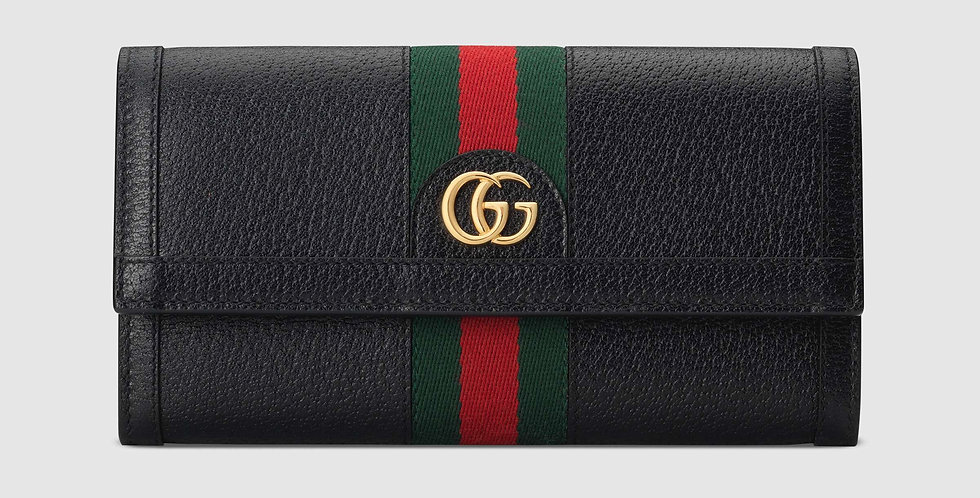 Gucci Ophidia black leather continental wallet