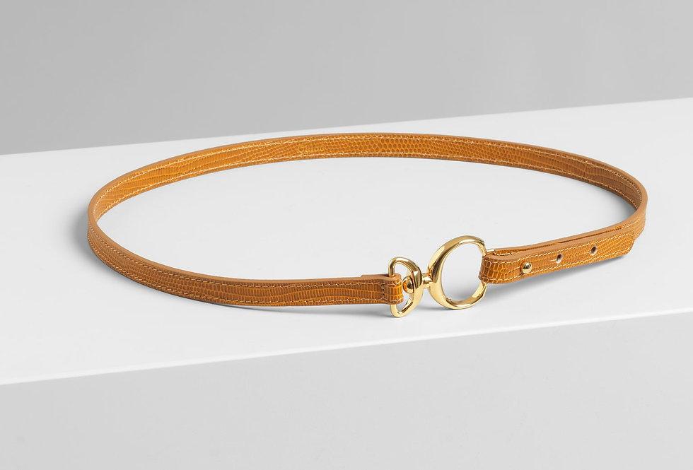 Chloé Ceinture belt in embossed lizard effect on calfskin & brass