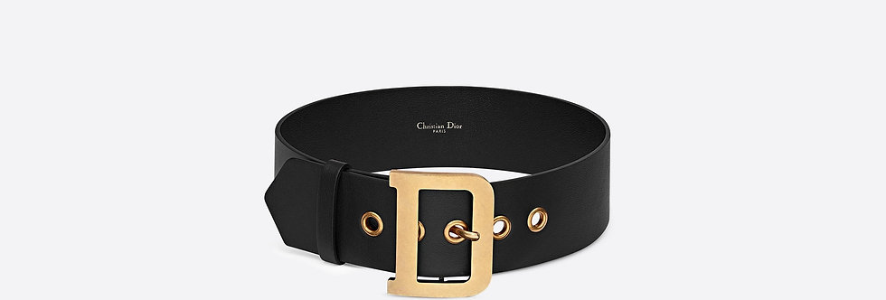 Dior Diorquake belt in black calfskin