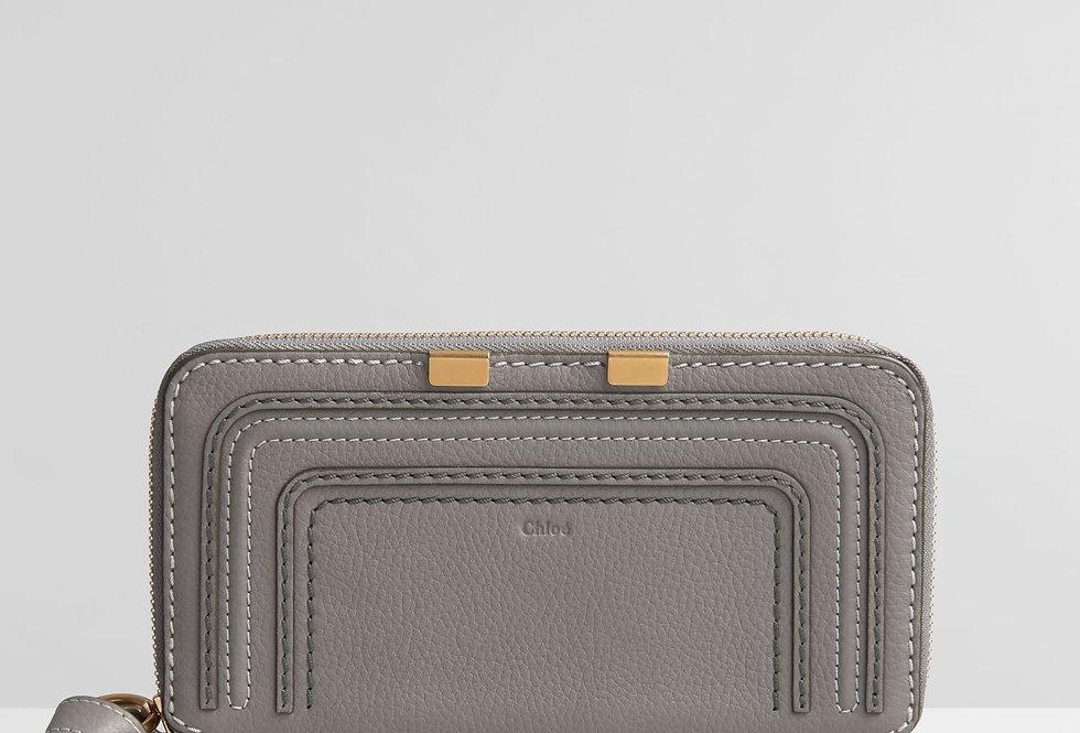 Chloé Marcie long zipped wallet in grained calfskin
