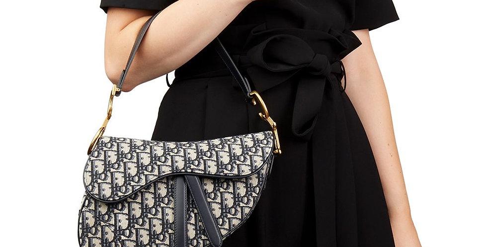 Dior Saddle Original Dior Oblique Embroidered Canvas Bag